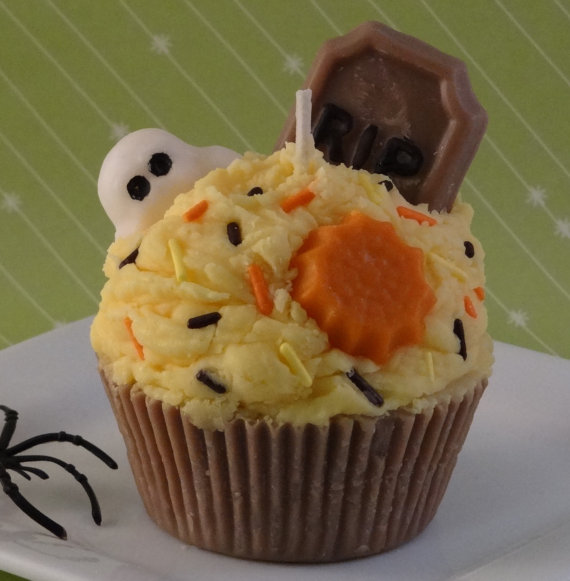 Halloween Cupcake Soy Candle Candy Corn Scented