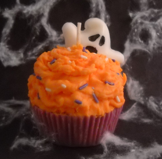 Pumpkin Buttercream Scented Soy Wax Cupcake Candle