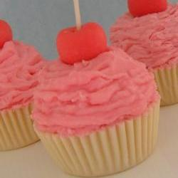 Pink Cupcake Candle Vanilla Buttercream Scented All Natural Soy Wax