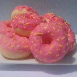 8 Donut Candle Tart Melts Pink Lemonade Scented Soy Wax